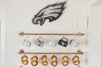 eagles football themed kitchen