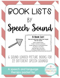 book lists by speech sound freebie