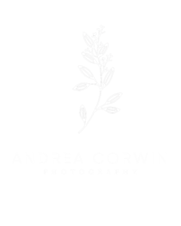 Andrea Corwin Photography Logo - White
