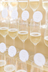 Champagne tower at San Francisco Wedding