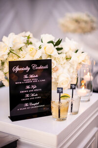 pirouettepaper.com | Wedding Stationery, Signage and Invitations | Pirouette Paper Company | Bar Signs and Bar Menus | Watercolor Signature Drinks 30