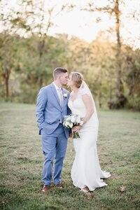 bride and groom at sunset by Knoxville Wedding Photographer, Amanda May Photos