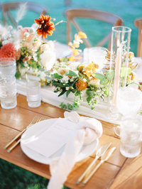whimsical floral table for a rhode island wedding