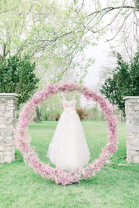 Circular arch for wedding ceremony.