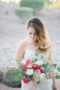 East Coast Bride with Flowers