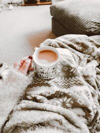 Cozy with coffee