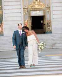 Bride & Groom at City Hall in San Francisco