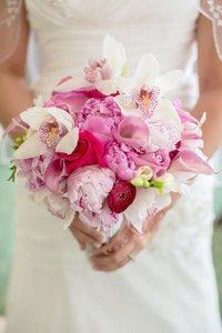 Pink bridal bouquet, Myrtle Beach wedding