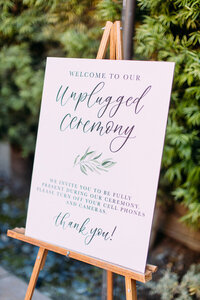 pirouettepaper.com | Wedding Stationery, Signage and Invitations | Pirouette Paper Company | Welcome + Unplugged Signs 10