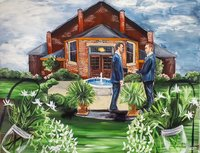 Gay wedding live wedding painting in Indianapolis Indiana