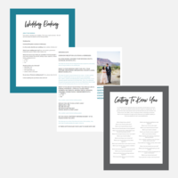 LGBTQ+ Inclusive Wedding Questionnaires - Pages 2