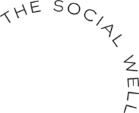 A curved logo for The Social Well.