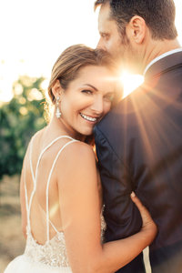 Wedding portrait in carneros vineyards, Napa Wedding Photography