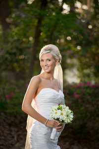 closeup bridal portrait in myrtle beach, south carolina