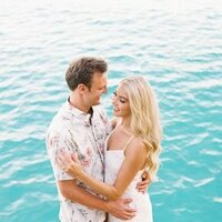 Couple Photoshoot in Bora Bora during their honeymoon