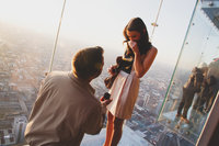 Proposal at the top of the Willis Tower in Chicago