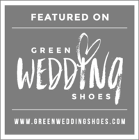 featured in green wedding shoes badge