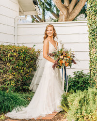 Bridal bouquet at santa barbara wedding
