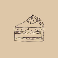 small cake drawing graphic