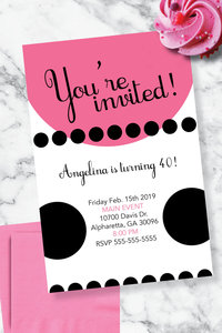 Angelina Bday Invite Mockup