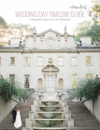 wedding day timeline guide-cover