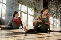 two in yoga class