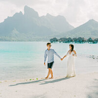 Honeymoon walk in Four Seasons Bora Bora