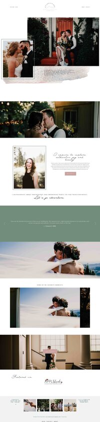 wedding photographer squarespace website