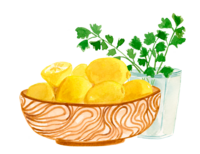 lemons and parsley