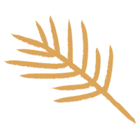 tan palm tree leaf illustration
