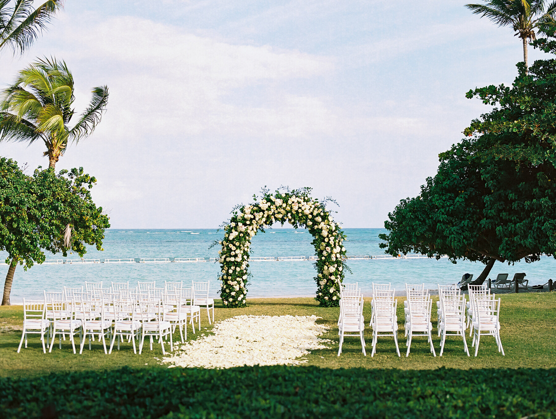 Wedding Ceremony set up at La Cana Golf - Punta Cana Photographer
