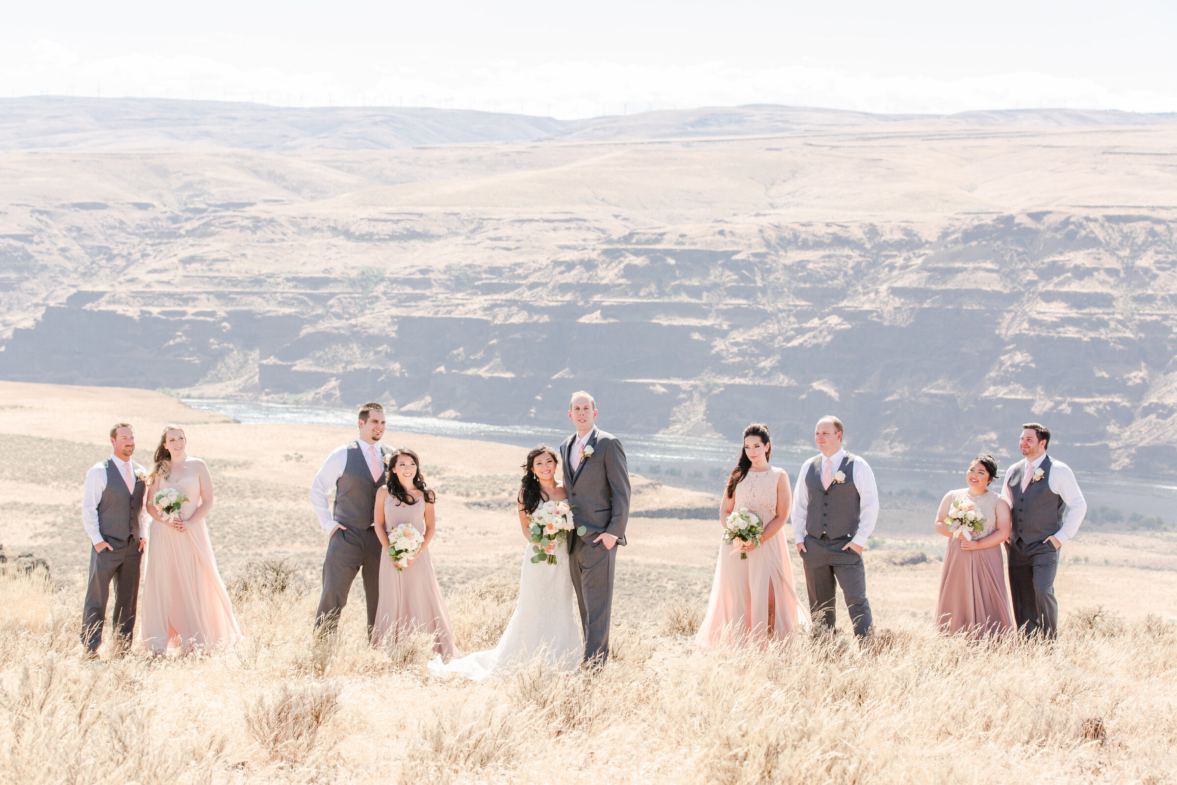 Cave B Winery Wedding  Bridal Party