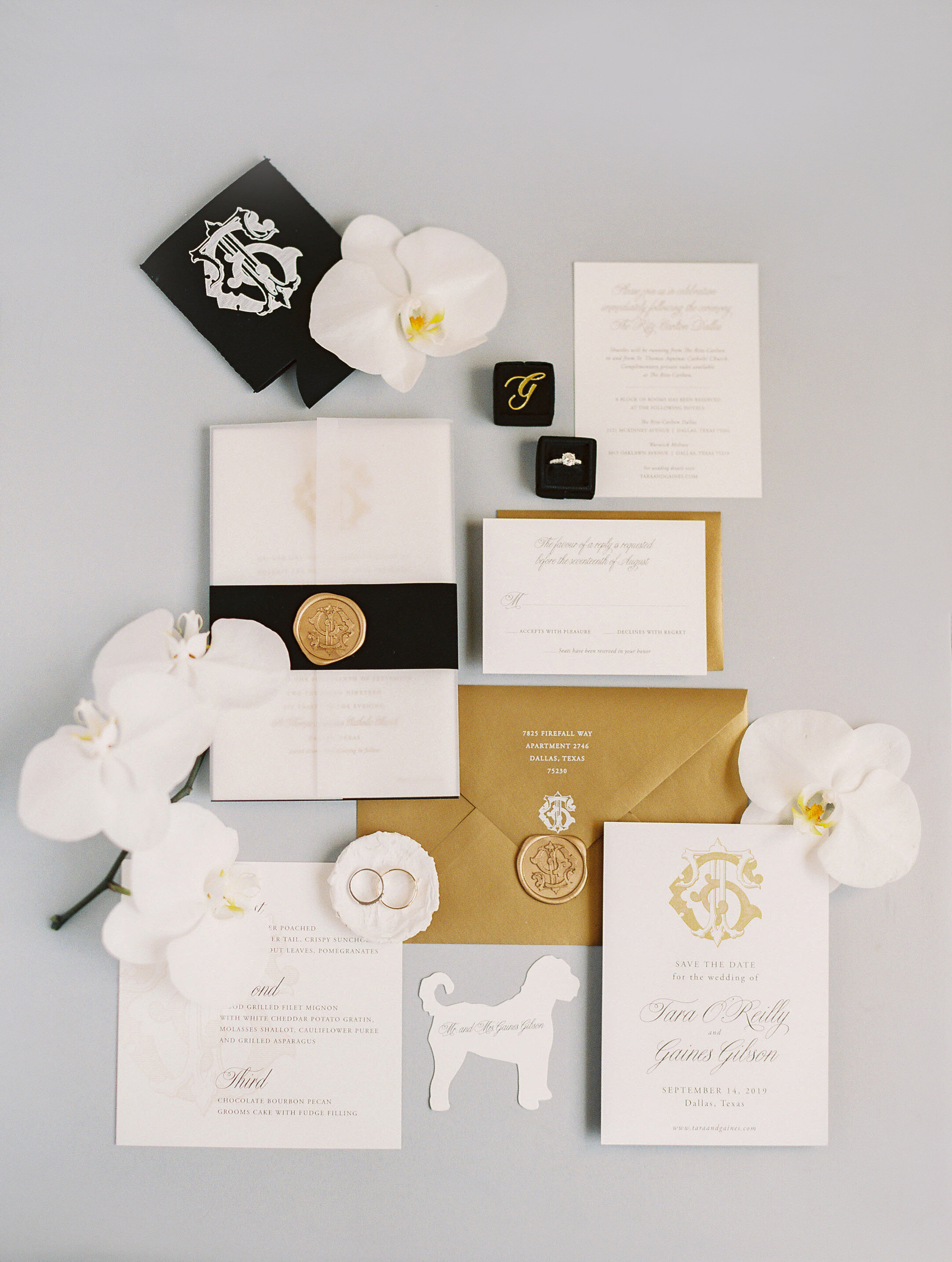 pop parties black and gold wedding ritz carlton dallas stephanie brazzle dallas wedding planner 1