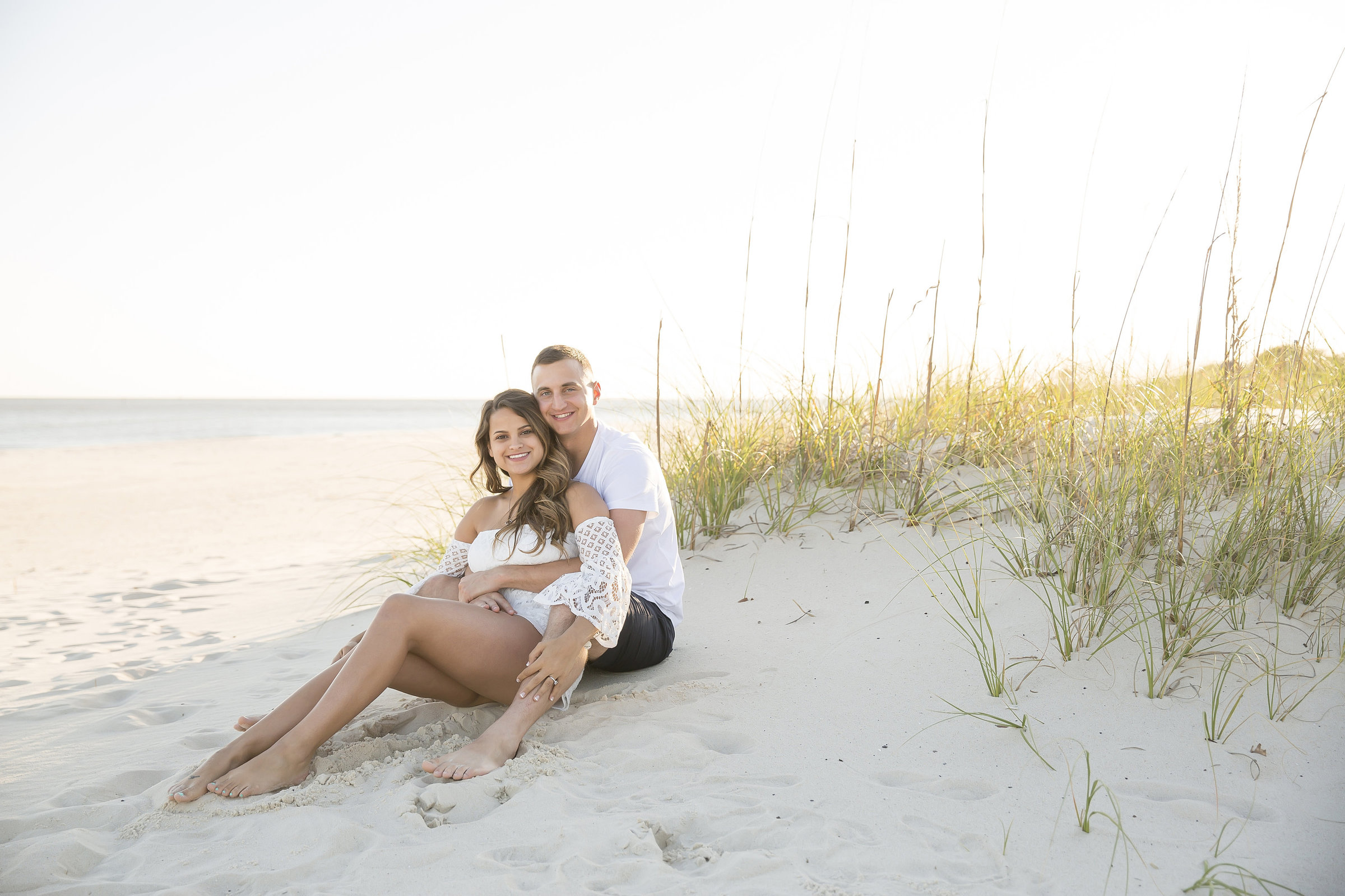 Engagement portrait on the biloxi beach