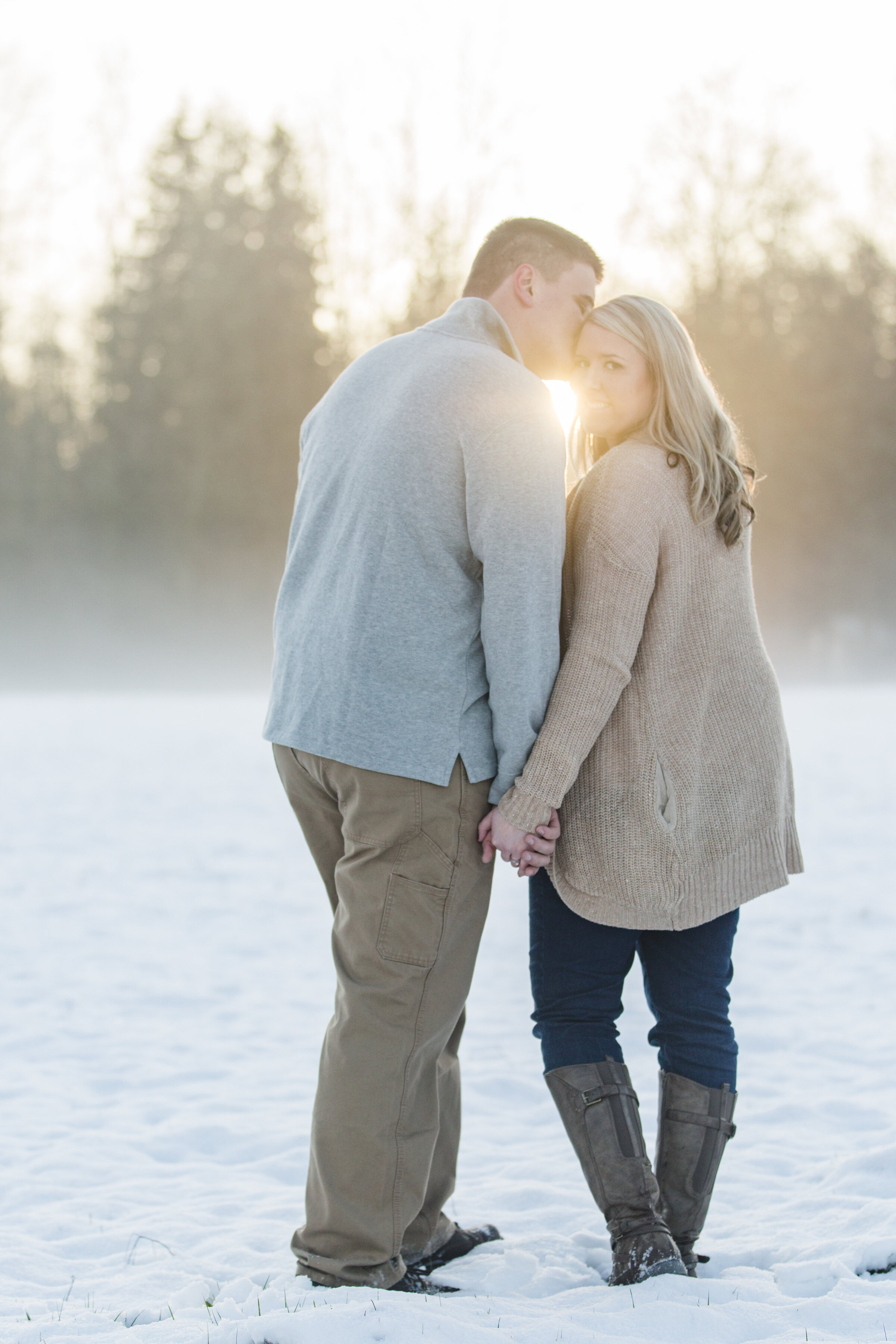 seattle engagment photographer snowy skagit engagement