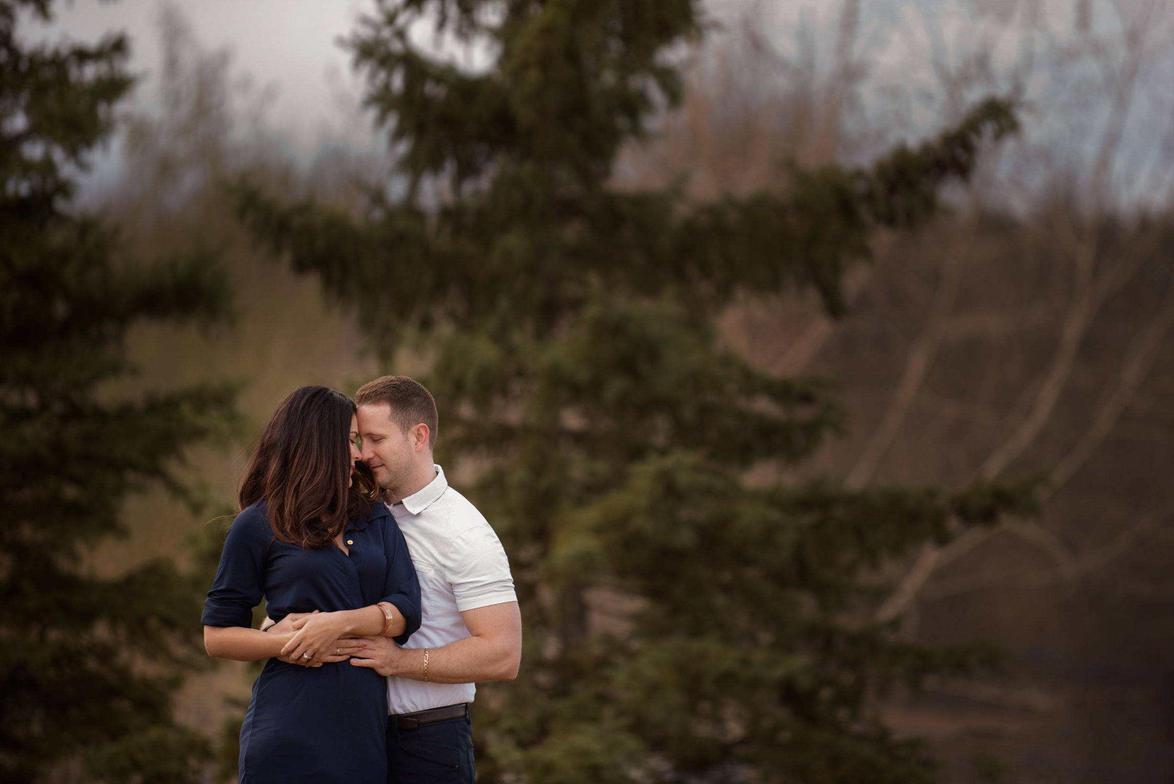 Couple at Borealis Park in Fort McMurray Alberta