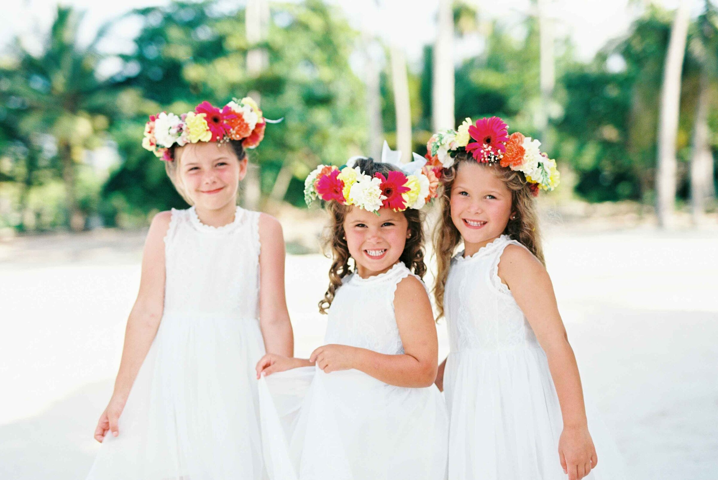 Punta cana Wedding - Flowergirls