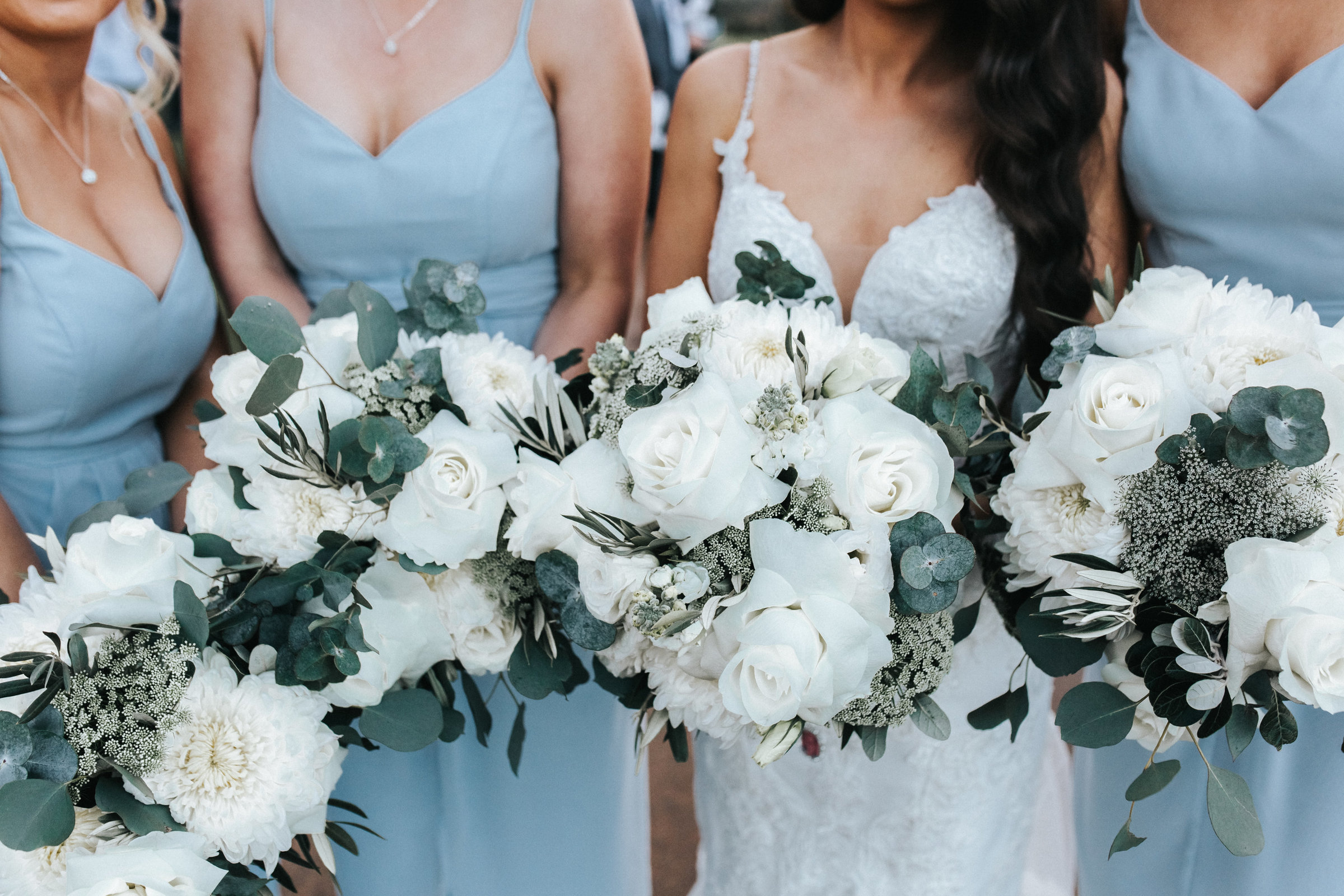 Bridal Flowers with Bridal Party
