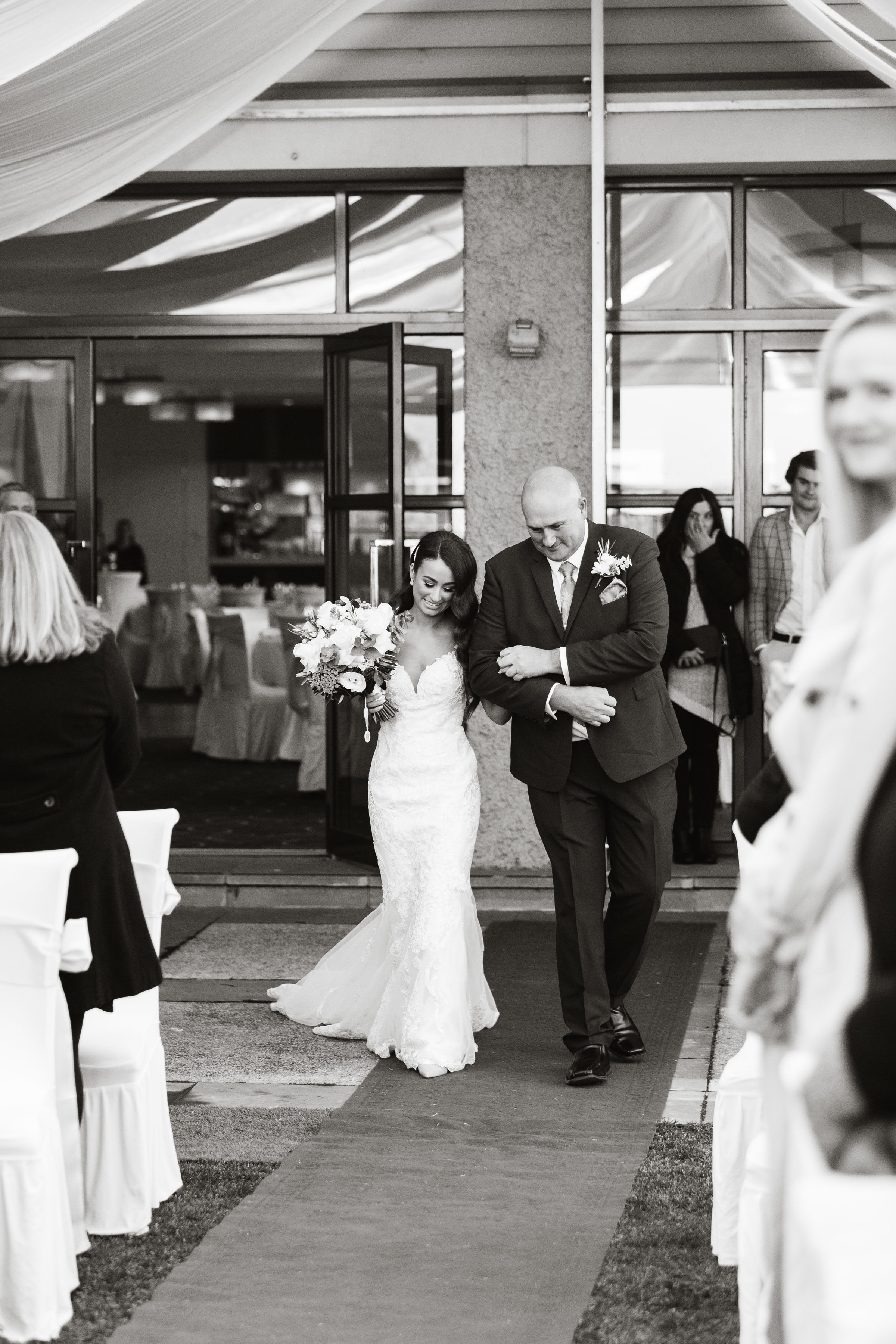 Father of Bride walking down the aisle