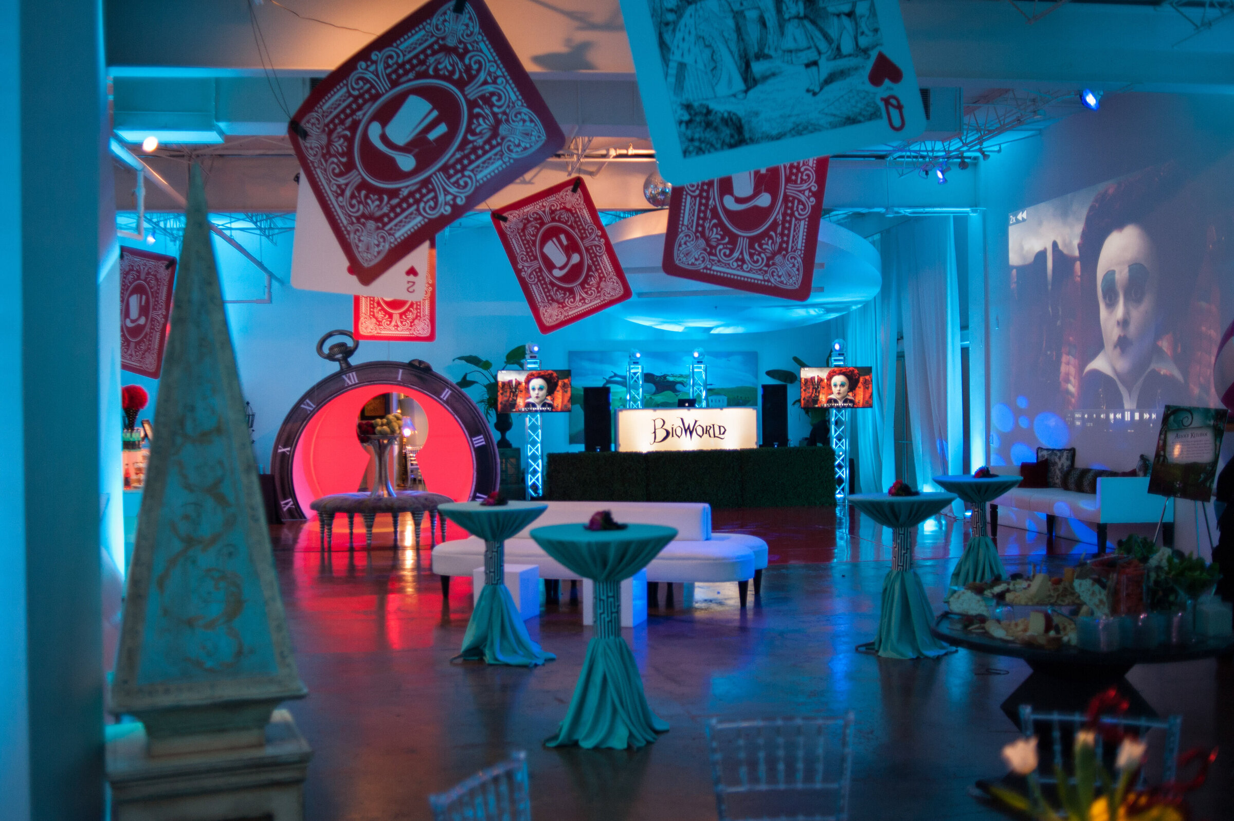 Pop Parties Dallas Event Planner Corporate Events Holiday Party Alice in Wonderland Theme