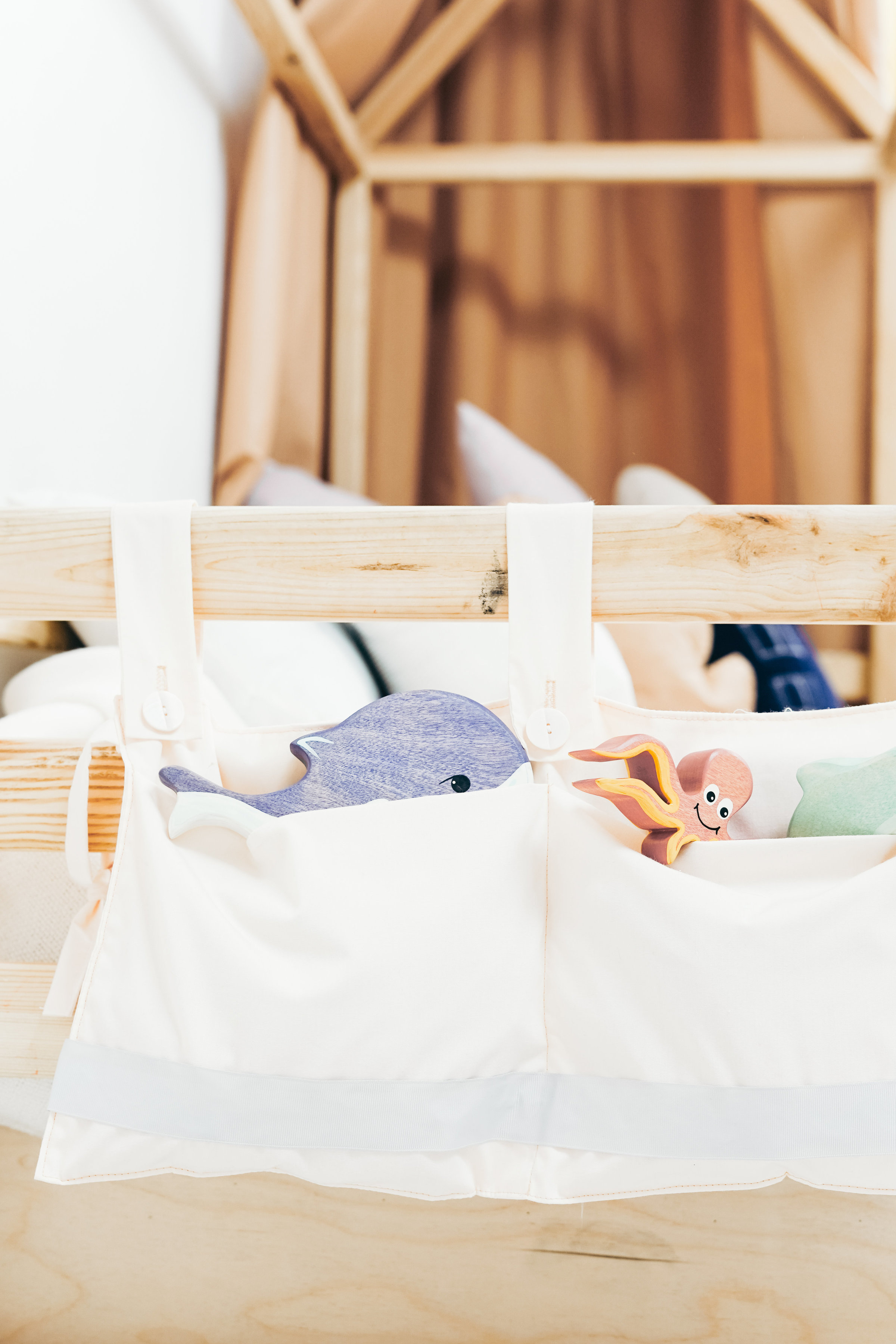 Canva - White Cloth Bag on Brown Wooden Bed