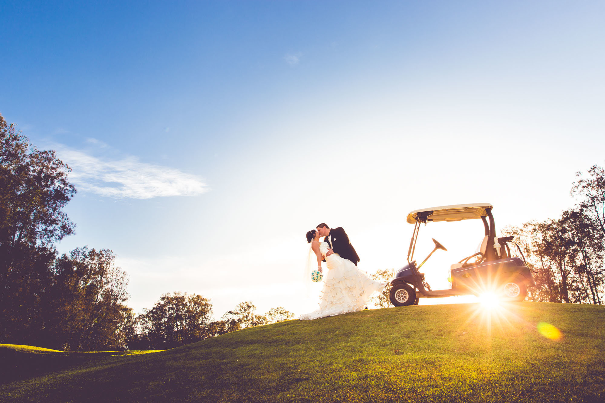 Gold Cart Gainsborough Greens Gold Coast Wedding Photography Anna Osetroff