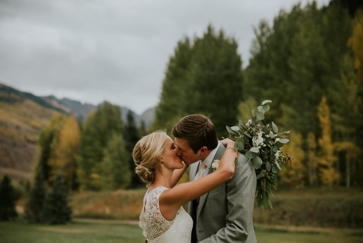 outdoor vail colorado fall wedding
