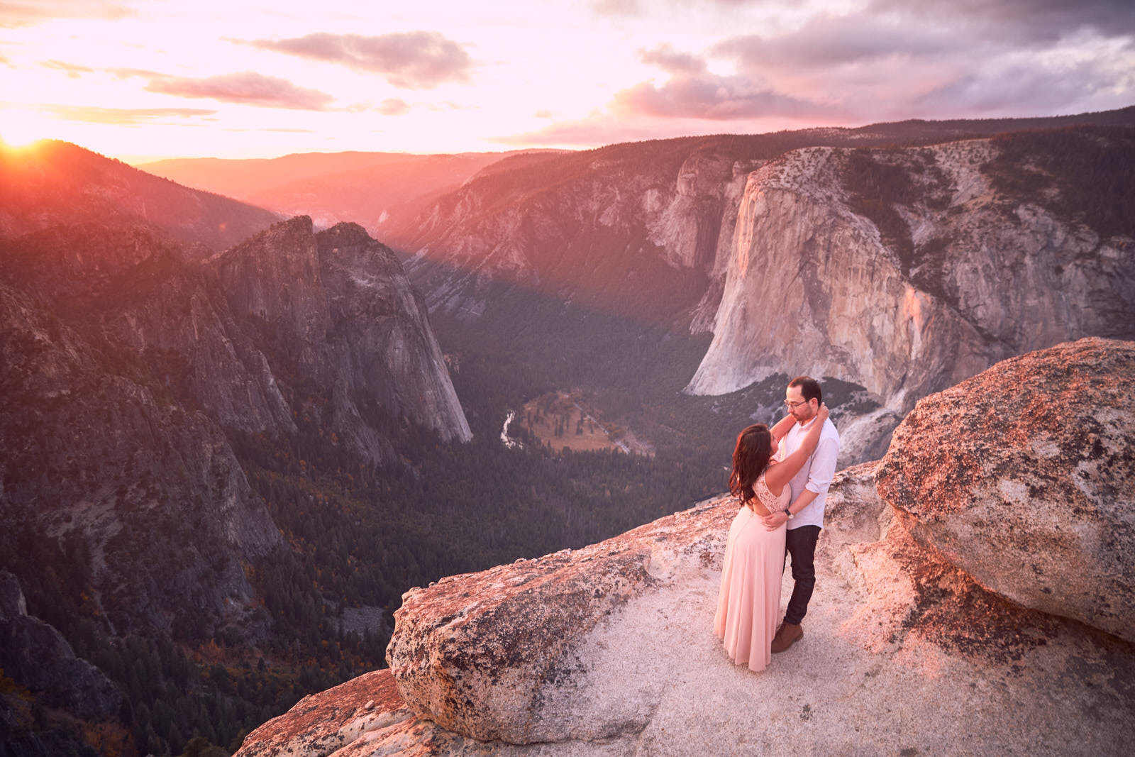 Taft Point Engagement Photos