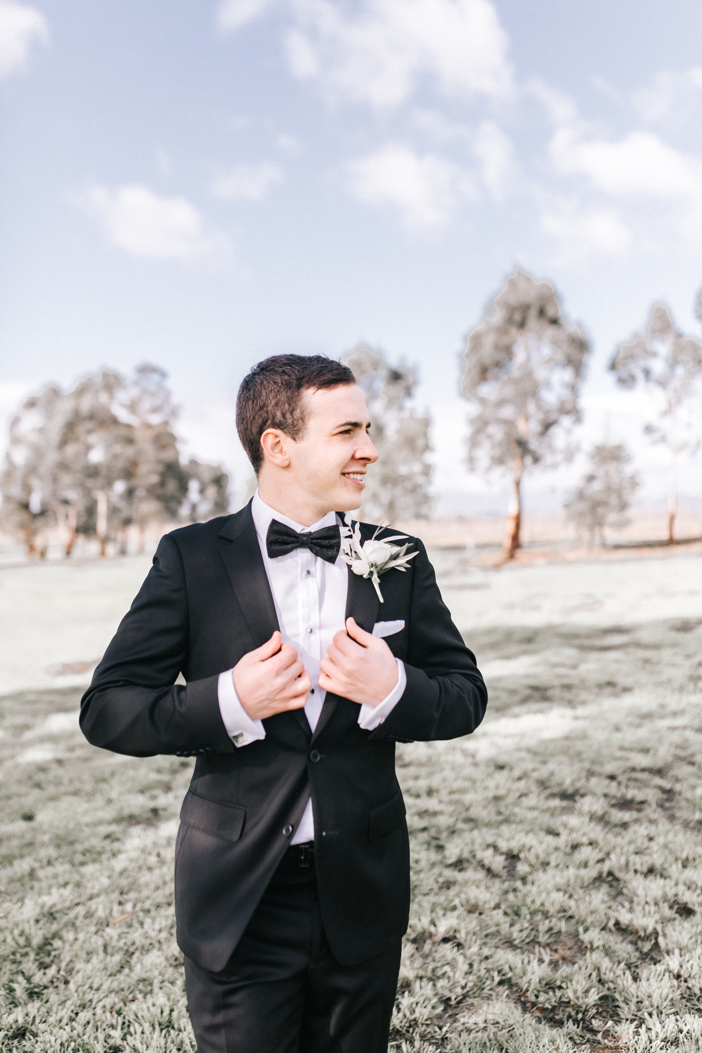Groom Pre Ceremony Photograph on Golf Course