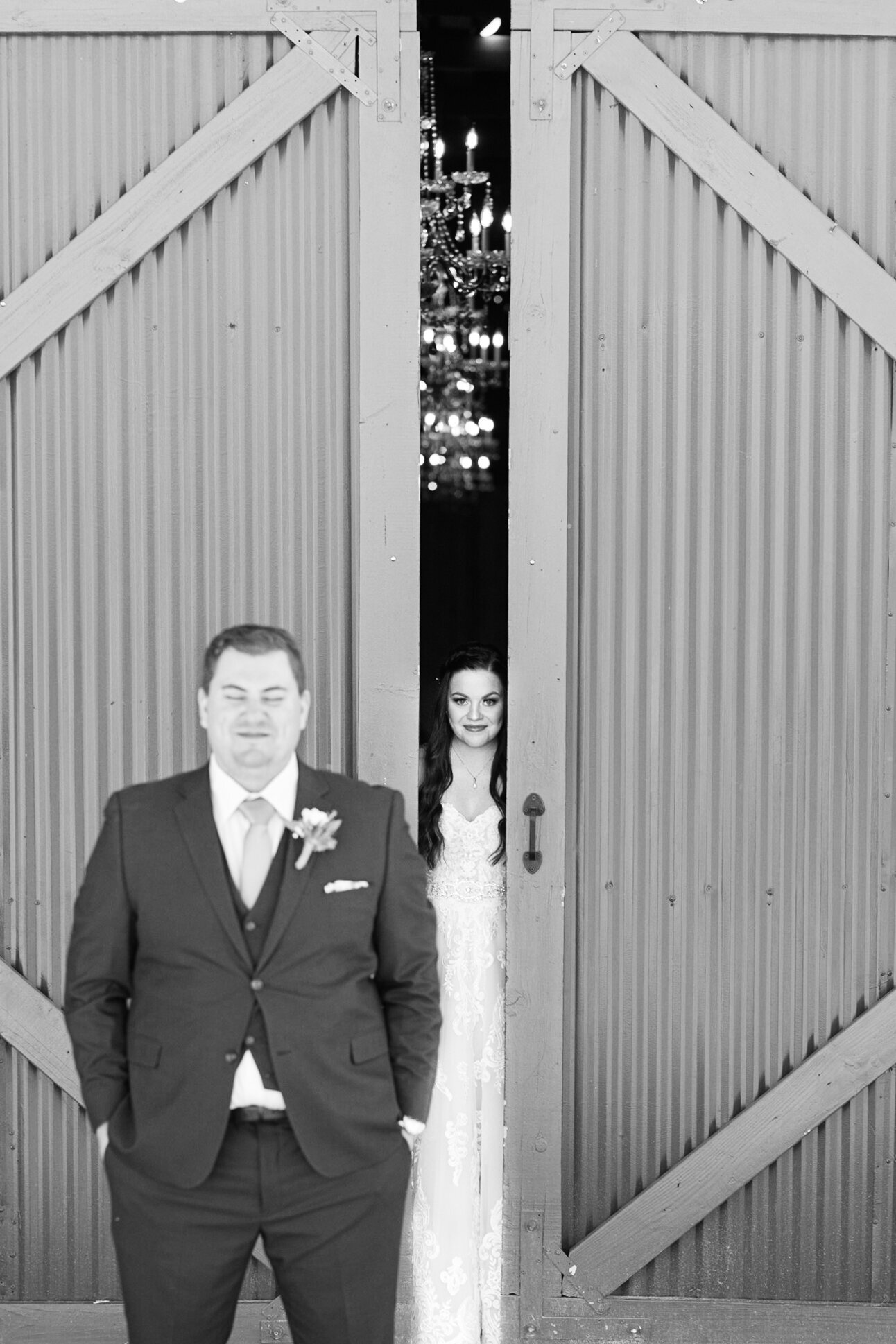 Photograph of bride and groom at their wedding in Phoenix Arizona