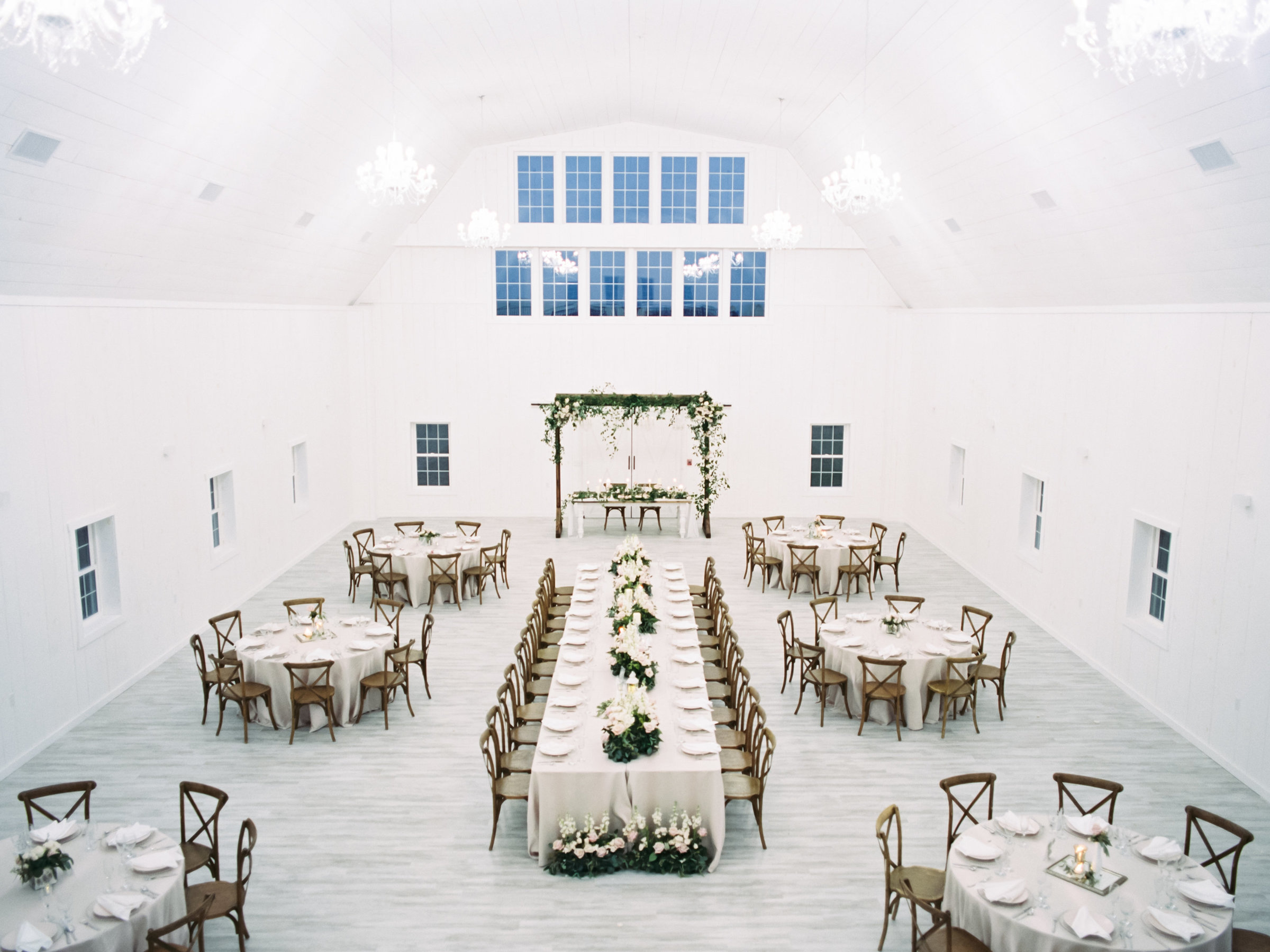 White Rose Barn Reception designed by Sirpilla Soirees, Cleveland Ohio Wedding Planner