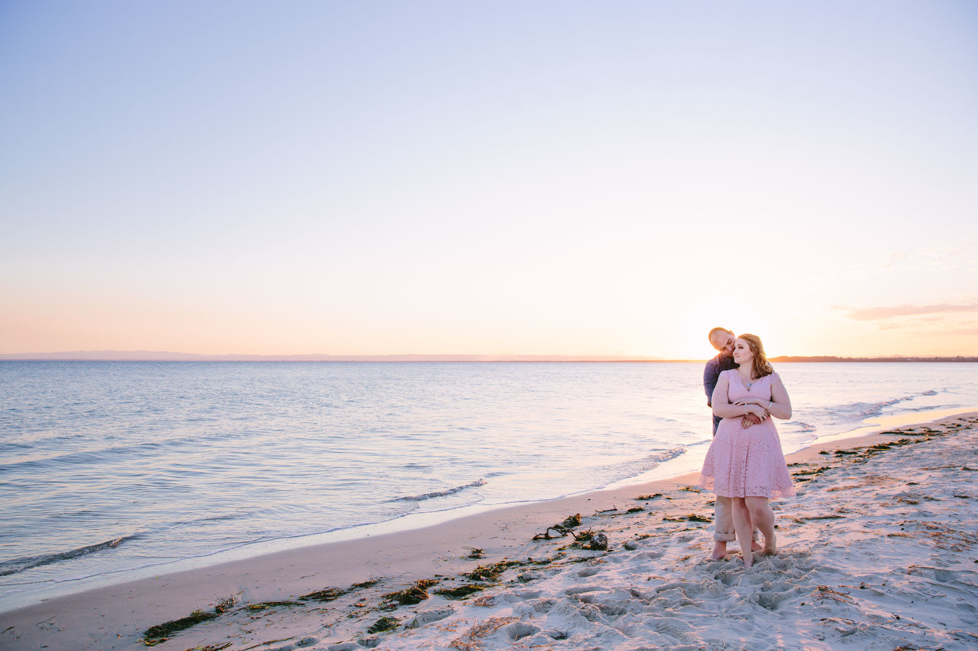 Bribie Island Sunset Couples Portraits Photographer Anna Osetroff
