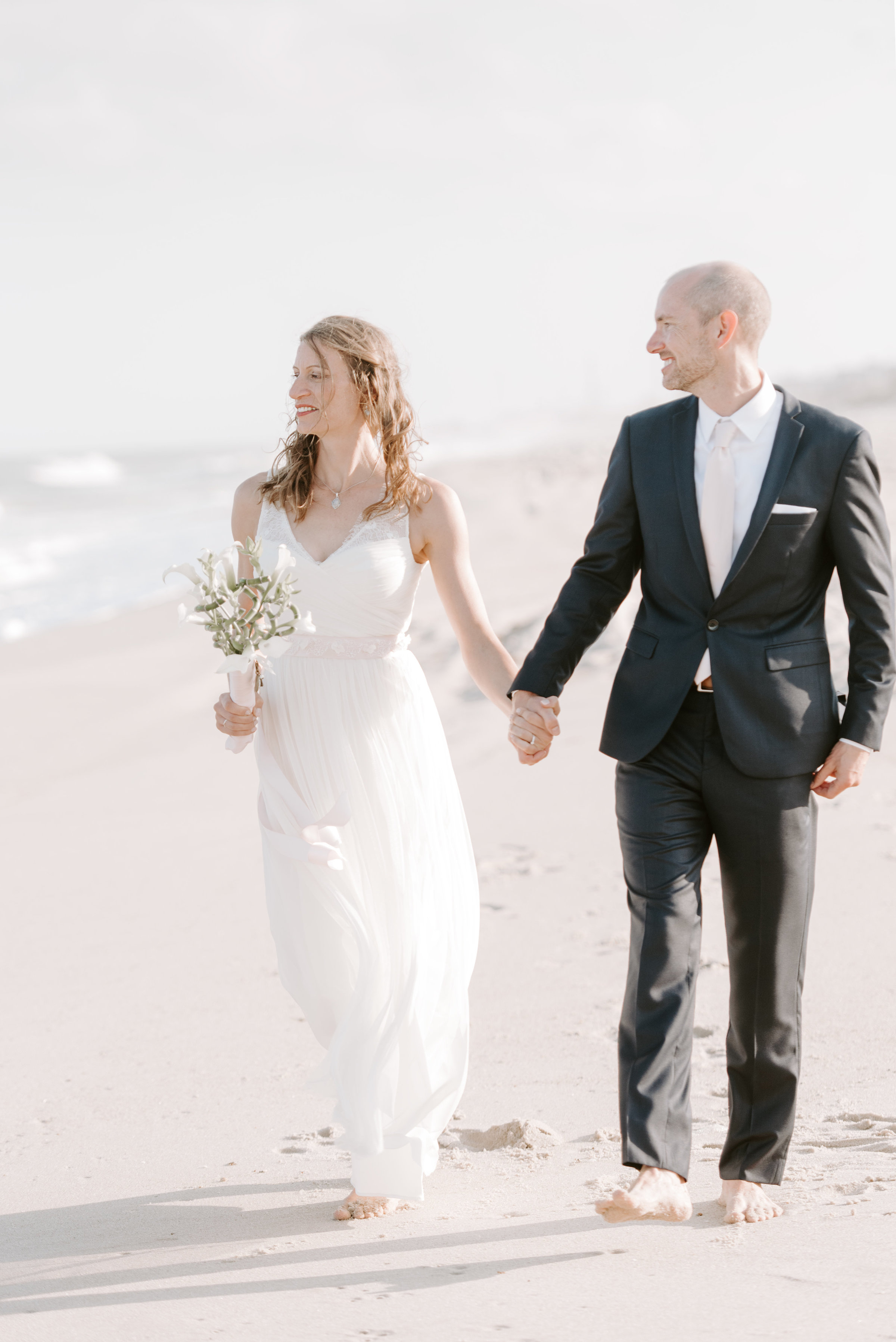 wedding photography during beach wedding in hudson valley, connecticut