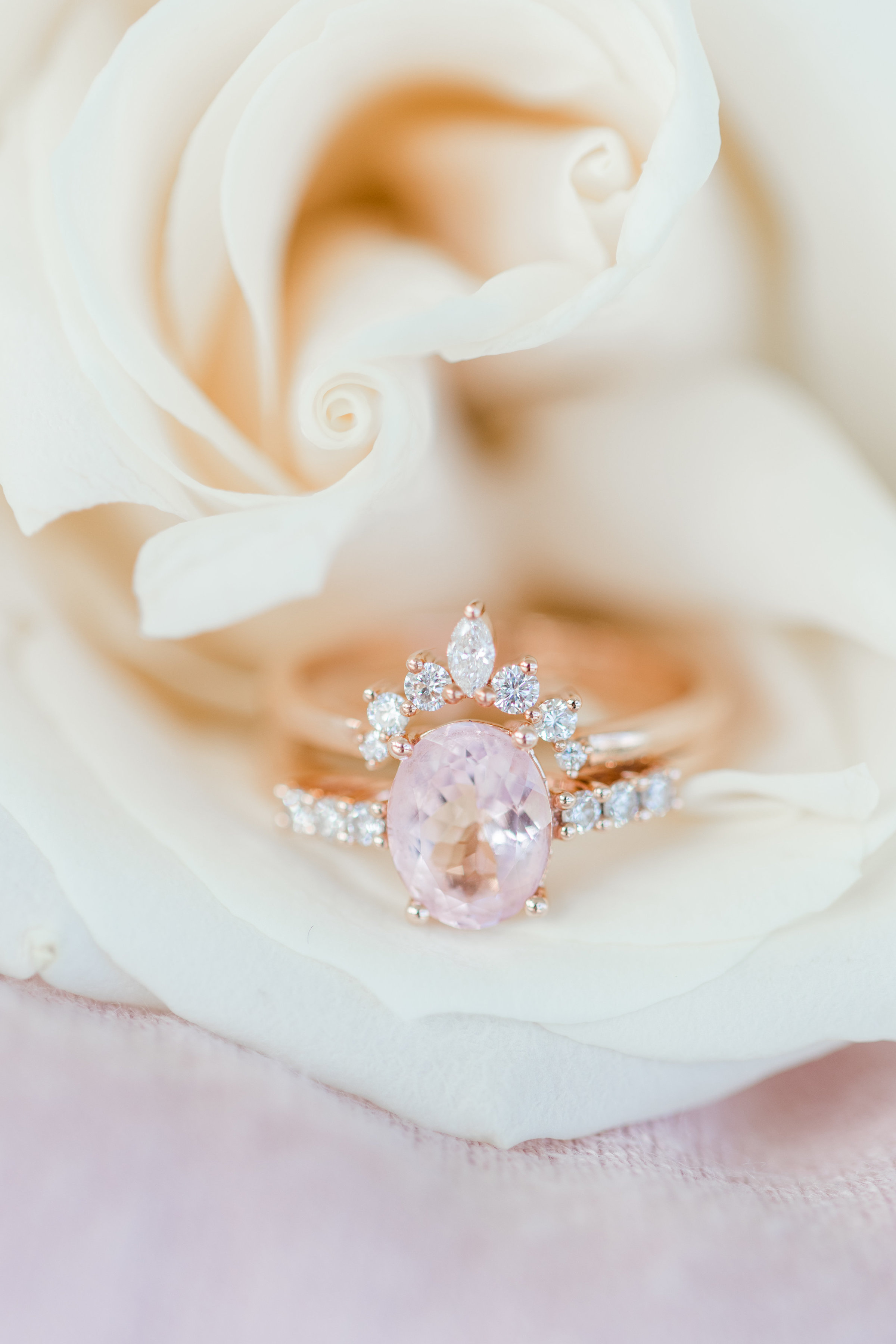 Bride's rings photographed together for an AZ wedding